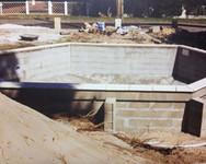 chantier, piscine, parpaings