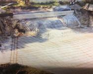 beton, piscine, construction