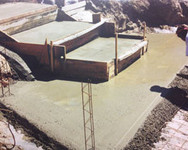 construction, chappe, beton